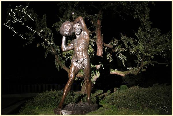 'at the top / Sisyphus raises his gaze / shooting star' by Irena Szewczyk