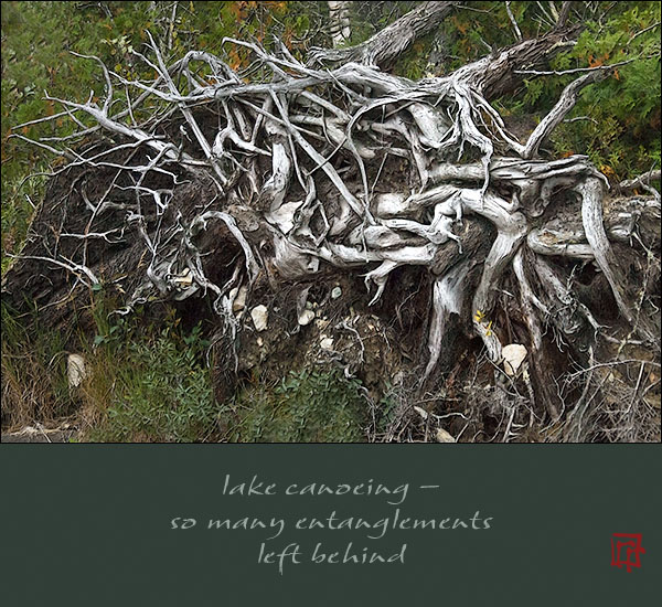 'lake canoeing� / so many entanglements / left behind' by Ray Rasmussen