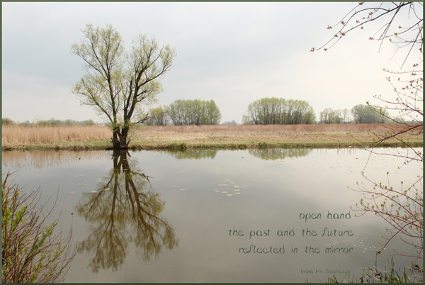 'open hand / the past and the future / reflected in the mirror' by Irena Szewczyk