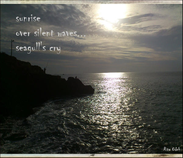 'sunrise / over silent waves... / seagull's cry' by Rita Oden