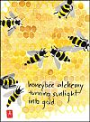 'honeybee alchemy / turning sunlight / into gold' by Annette Makino