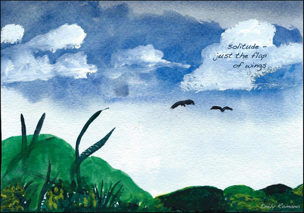 'solitude� / just the flap / of wings' by Emily Romano