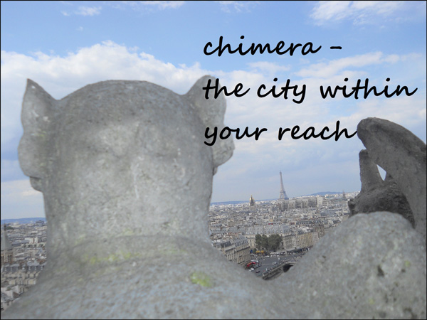 'chimera— / the city within / your reach' by Ana Drobot