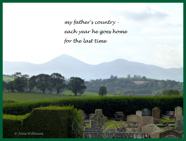 'my father's country� / each year he goes home / for the last time' by Jane Williams