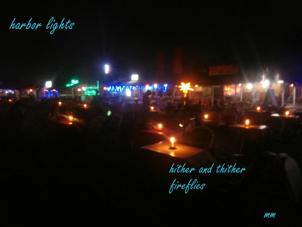 'harbor lights / hither and thither / fireflies' By Mamta Madhavan