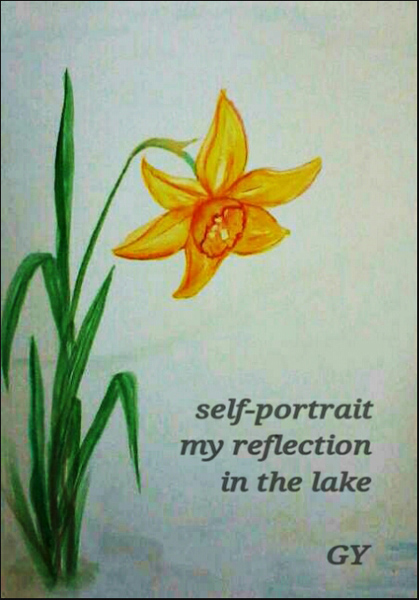 'self-portrait / my reflection / in the lake' by Gergana Yaninska