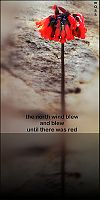 'the north wind blew / and blew / until there was red' by Ron Moss