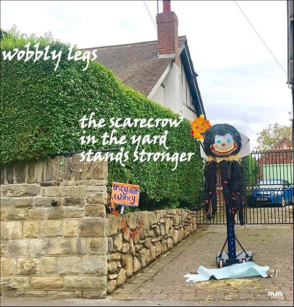 'wobbly legs / the scarecrow  / in the yard / stands stronger' by Mamta Madhavan