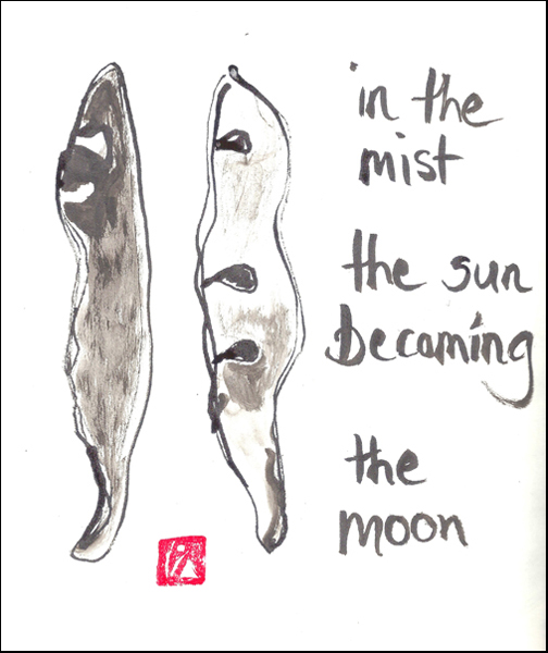 'in the mist / the sun becoming / the moon' by Beth McFarland