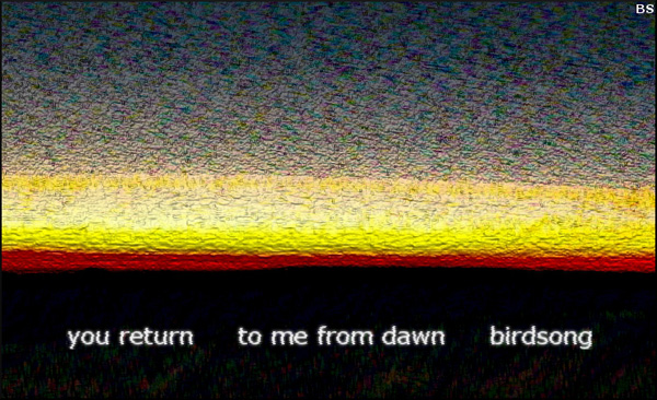 'you return / to me from dawn / birdsong' by Brendan Slater