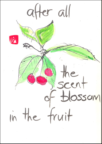 'after all / the scent of blossom / in the fruit' by Beth Mcfarland