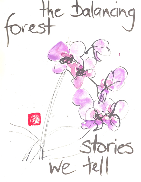 'the balancing forest / stories we tell' by Beth Mcfarland