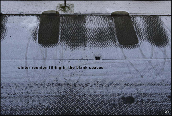 'winter reunion / filling-in / the blank spaces' by Bouwe Brouwer