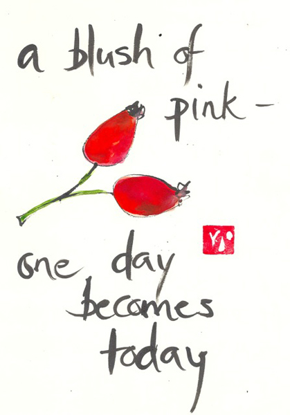 'a blush of pink� / one day becomes /  today' by Beth McFarland