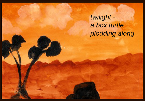 'twilight� / a box turtle / plodding along' by Emily Romano