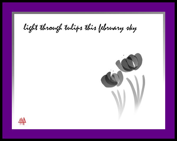 'light through tulips this february sky' by Patrick Pilarski