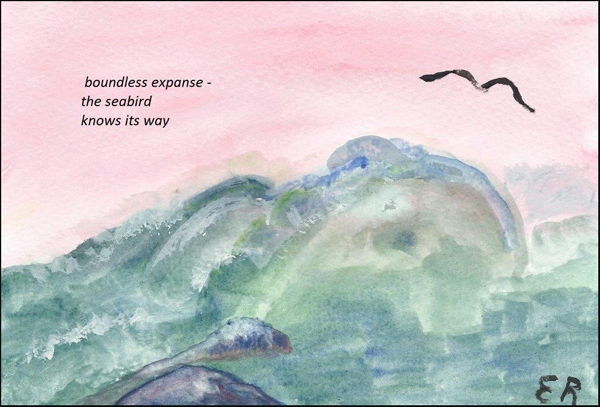 'boundless expanse� / the seabird / knows its way' by Emily Romano