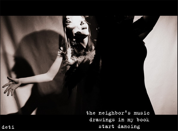'the neighbor's music / drawings in my book / start dancing' by Detelina Tiholova