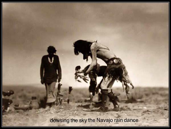 'dowsing the sky the Navajo rain dance' by Paul Geiger.  Photo by�https://sonocarina.wordpress.com/2012/07/18/how-to-do-a-rain-dance-native-american-rain-dance/