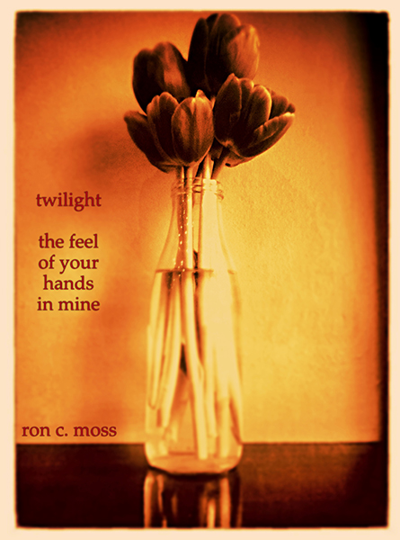 'twilight / the feel /  of your  / hands / in mine' by Ron Moss