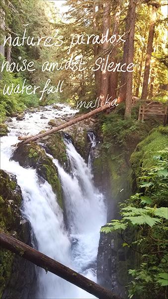 'nature's paradox / noise amidst silence / waterfall' by Mallika Chari
