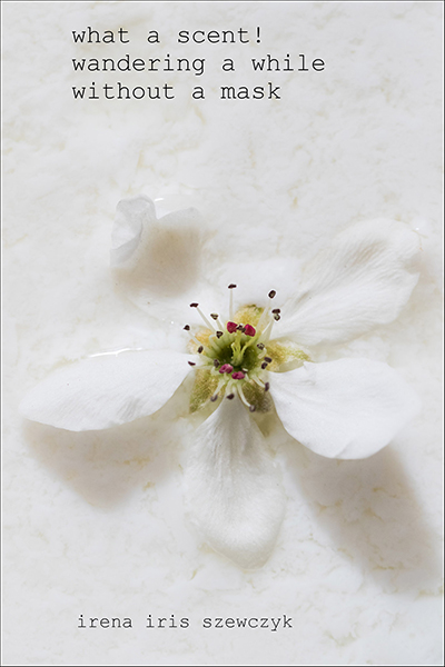 'what a scent! / wandering a while / without a mask' by Irena Szewczyk