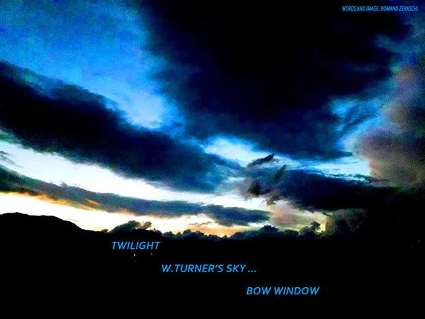 'twilight / w. turner's sky... / bow window' by Romano Zeraschi