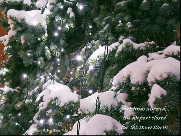 'christmas abroad... / the airport closed / for the snowstorm' by Steliana Voicu