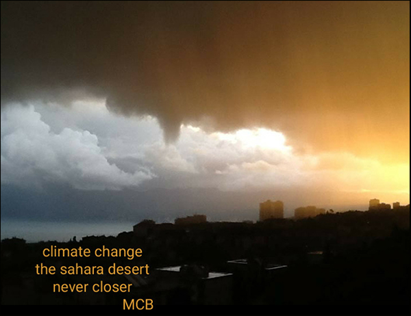 "'climate change / the sahara desert / never closer"" by Mihovila Biljan"