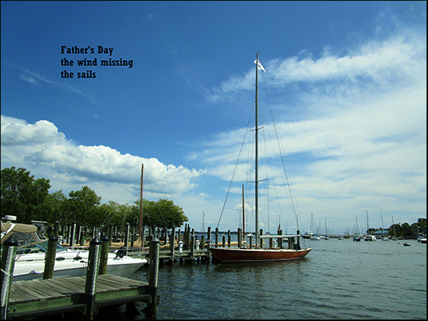 'Father's day / the wind missing / the sails' by Meik Blottenberger