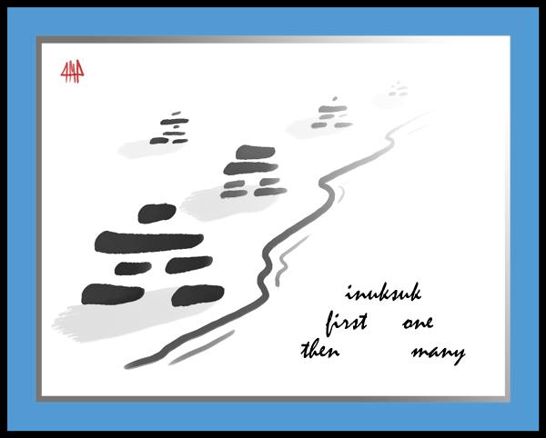 'inuksuk / first one / then many' by Patrick M. Pilarski