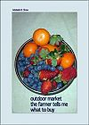 'outdoor market / the farmer tells me / what to buy' by Adelaide Shaw